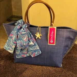 NWT Lily Pulitzer for Target Straw Tote